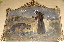 Fresca din biserică, Francisc cu lupul din Gubio, Foto: fr.Szilveszter.ofm