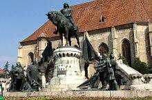 Statuia lui Matei Corvin, Cluj-Napoca, Foto: Mircea Vâlcu