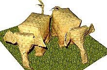 Növénytan múzeum, Ceylonban pálmalevelekből készült tárgyak, Fotó: Mihai Pușcaș