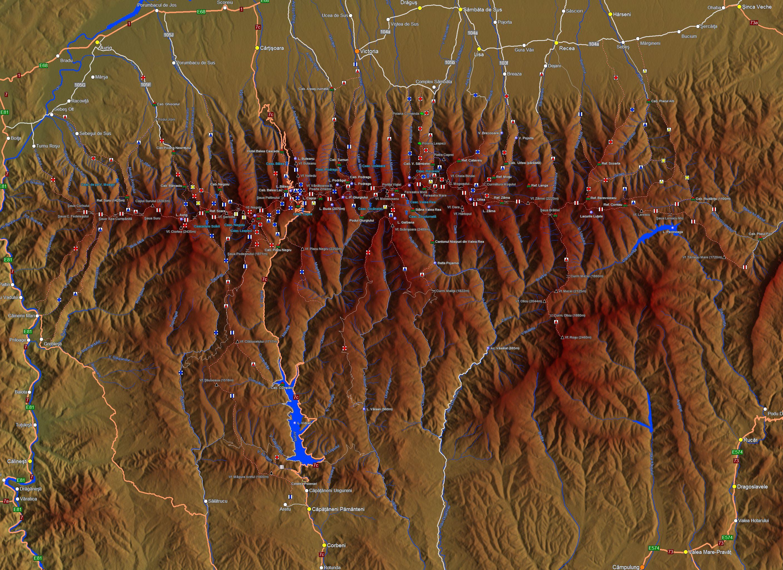 Muntii Fagaras Harta Interactiva Trasee Marcate Si Obiective