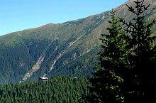 Negoiu turistaház-Bărcaciu turistaház jelzett turistaút, Fogarasi havasok, Fotó: Andrzej Bieńkowski