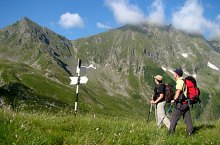 Traseul La Cruce-sub varful Cheia Bandei, Muntii Fagaras, Foto: Iulian Pănescu
