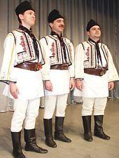 Traditional costume Comana, have on member of Poienita folk ansambly Brașov