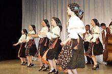 Traditional costume Crihalma, have on member of Poienita folk ansambly Brașov