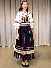 Traditional costume Fagaras, have on member of Poienita folk ansambly Brașov