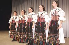 Traditional costume Ilimbav, have on member of Poienita folk ansambly Brașov