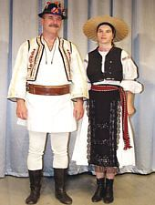 Traditional costume Sibiu, have on member of Poienita folk ansambly Brașov