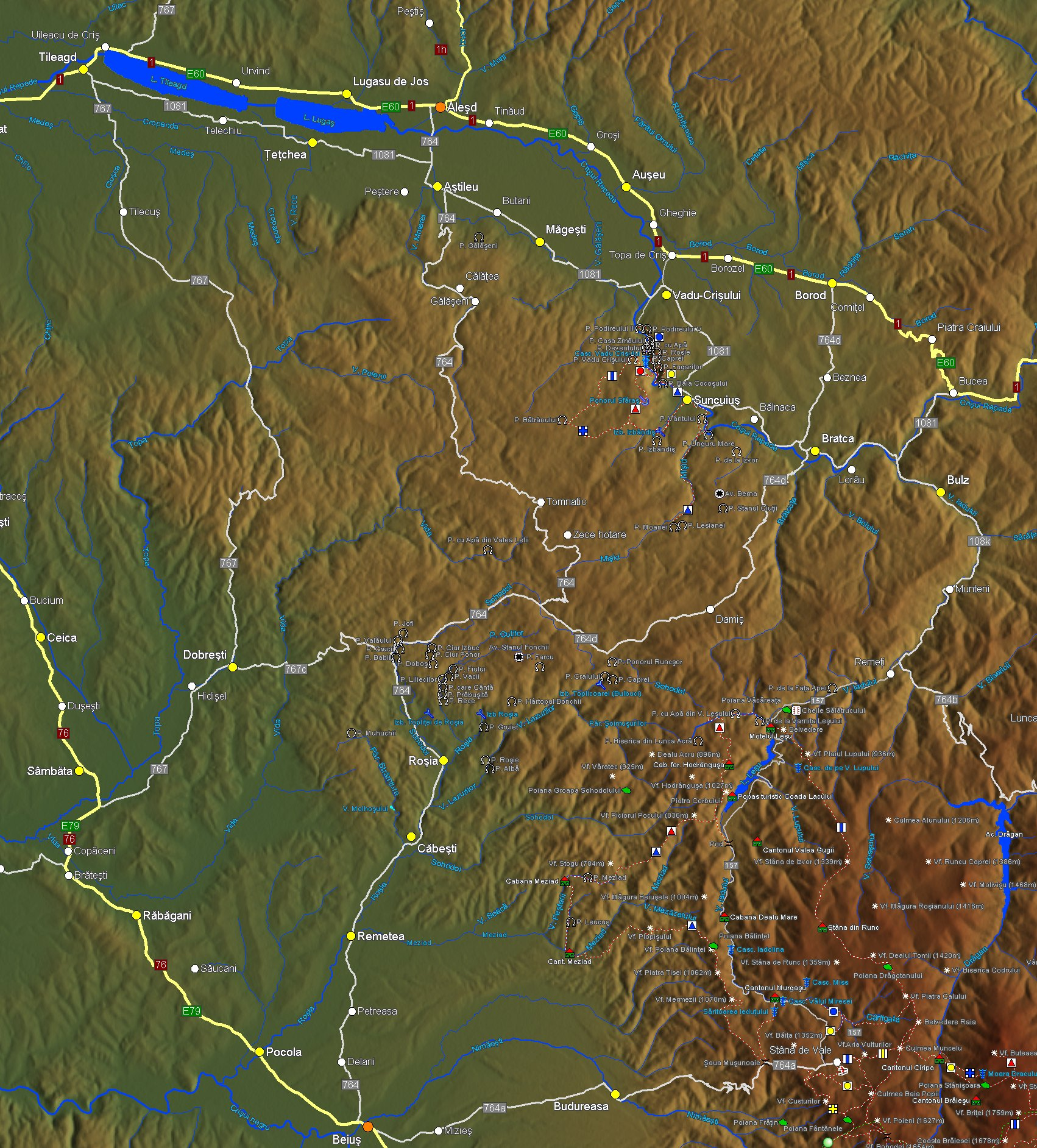 Muntii Padurea Craiului Harta Interactiva Trasee Marcate Si