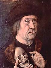 Pinoteca Brukenthal, Michael Sittow: Portret de bărbat cu craniu