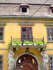 Casa cu cariatide, Sibiu, Foto: Daniel Stoica