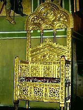 Great Church, The king's chair, Photo: pr. Mihail Nagy
