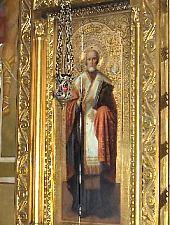 A Nagytemplom,  Orosz ikon Szent Miklós, Fotó: pr. Mihail Nagy
