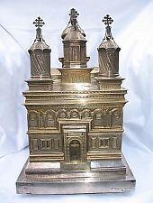 Múzeum, Oltáriszentség, aranyozott ezüst, a Curtea de Arges-i kolostor másolata, Fotó: pr. Mihail Nagy