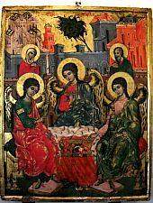 Múzeum, Pârvu Mutu festménye: Szentháromság, Fotó: pr. Mihail Nagy
