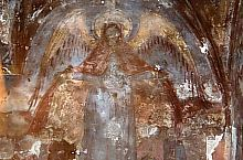 Old Church, Hallway, The Holy Virgin with wings, unusual representation, Photo: pr. Mihail Nagy