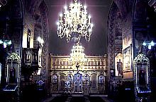 Inside of the Great Church, the chandeliers were made in Wien at the end of the XIXc., Photo: pr. Mihail Nagy