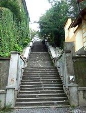 Rákóczi lépcső, Marosvásárhely., Fotó: Benkő József