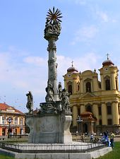 Szentháromság vagy Pestis szobor, Temesvár., Fotó: Marian Ghibu