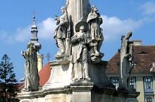 Szentháromság vagy Pestis szobor, Temesvár., Fotó: Radu Capan
